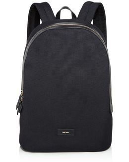 Canvas And Leather Detail Backpack