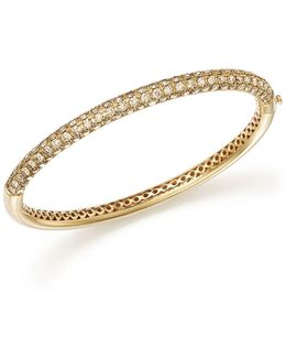 18k Yellow Gold Fantasia Brown Diamond Bangle