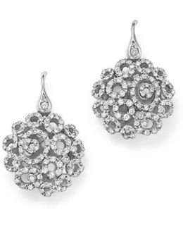 18k White Gold Mini Moresque Diamond Earrings