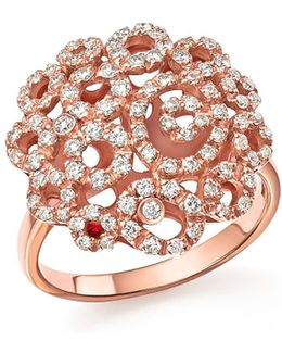 18k Rose Gold Moresque Diamond Band Ring