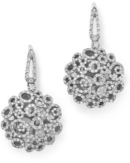 18k White Gold Moresque Diamond Earrings