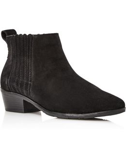 Liddy Suede Chelsea Booties