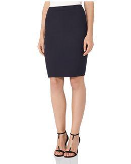 Faulkner Tailored Wool-blend Skirt