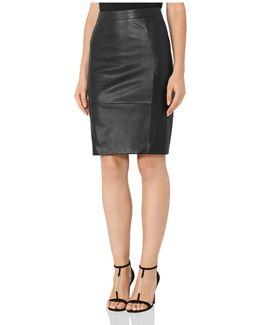 Olivia Leather Skirt