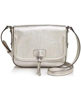 Camille Metallic Saddle Bag