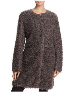 Reversible Lightweight Faux Fur Coat