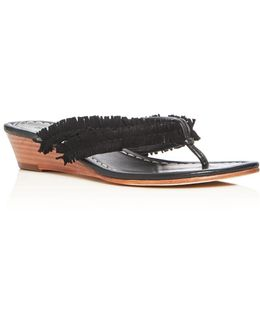 Miami Fringe Wedge Sandals