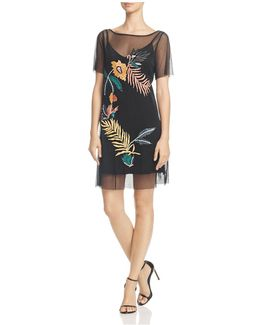 Jimena Tropics Embroidered Dress