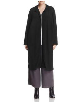 Spread-collar Duster Coat