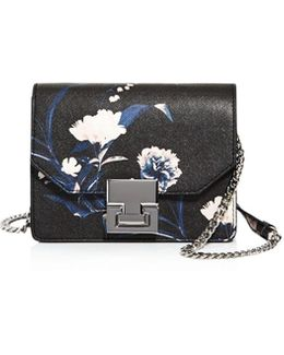 Hopewell Floral Mini Saffiano Leather Crossbody