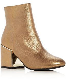 Reeve 2 Metallic Block Heel Booties