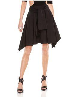 Tie-front Skirt