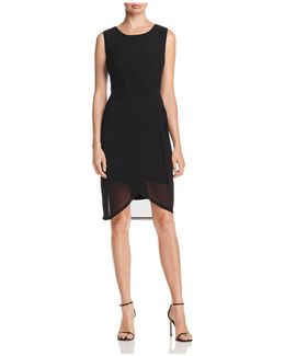 Bellini Twist Waist Mesh Dress