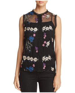Laureen Embroidered Floral Blouse