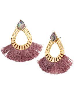 Ashira Fringe Hoop Earrings