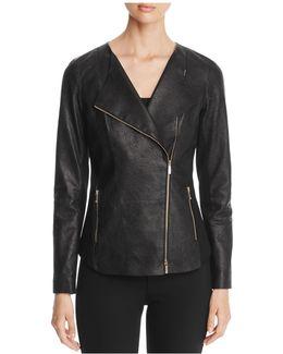 Aimes Leather Moto Jacket