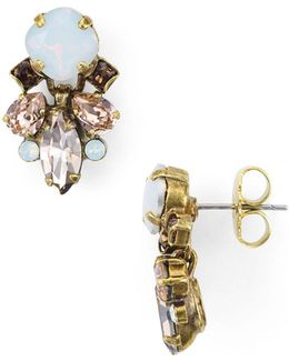 Peony Cluster Stud Earrings