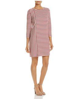 Combo-stripe Shift Dress