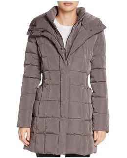Zip-front Puffer Coat