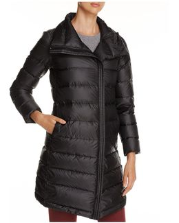 Zip-front Down Coat