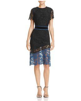 Color-block Venise Lace Dress