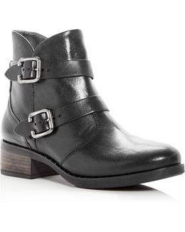 Women's Newbury Leather Low Heel Booties