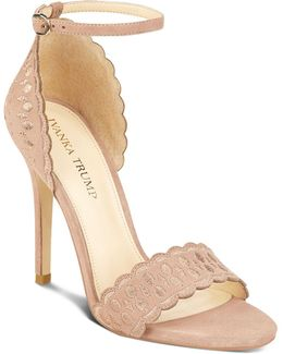 Helina Scalloped High Heel Ankle Strap Sandals