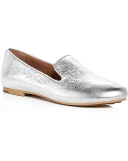 Women's Eugene Leather Smoking Slippers