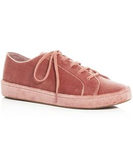 Women's Daryl Velvet Lace Up Sneakers