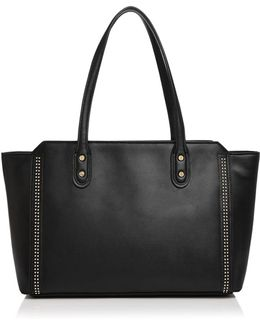 Soho Studded Top Zip Leather Tote