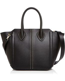 Tribeca Studded Leather Satchel