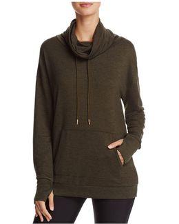 Tulip-back Cowl Neck Sweatshirt
