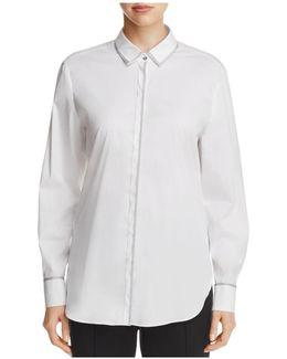 Metallic-trimmed Shirt