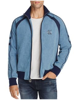 Jeans Chambray Zip-front Track Jacket