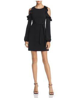 Cold-shoulder Tie-waist Dress