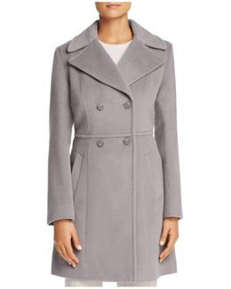 Double-breasted Notched Collar Coat