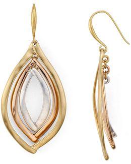 Tri-tone Orbital Earrings