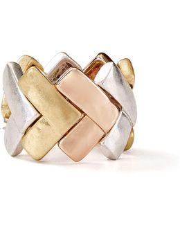 Tri-tone Band Ring