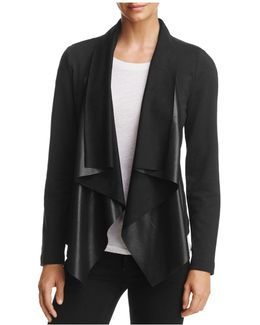 Faux Leather-front Jacket