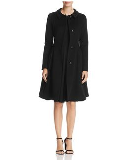 Virgin Wool Fit-and-flare Coat
