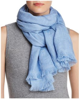 Wool Stiched Floral Scarf
