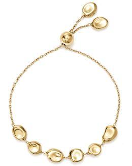 18k Yellow Gold Onda Pebble And Chain Bracelet