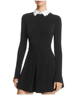 Alice + Olivia Becker Scalloped-collar Bodysuit