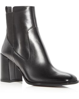 Woman's Delaney Leather High Heel Booties