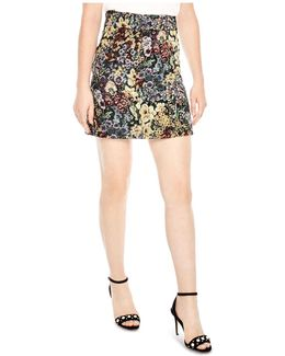 Dariane Floral Jacquard Mini Skirt