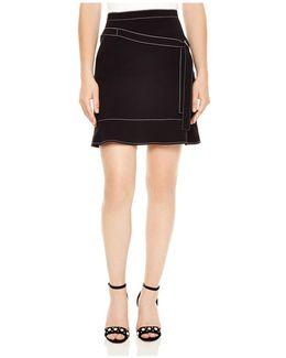 Bakene Contrast-stitched Mini Skirt
