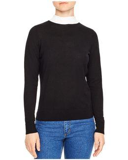 Perle Tie-back Merino Wool Sweater