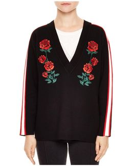Indira Rose-embroidered Sweater