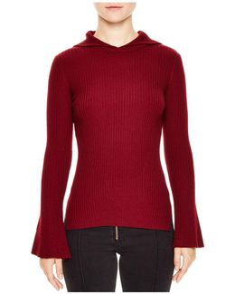Detroit Hooded Ribbed-knit Sweater