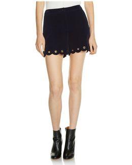 Ipano Scalloped Velvet Shorts
